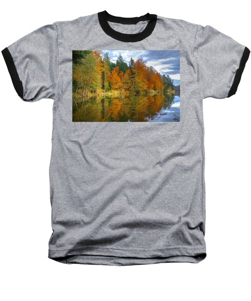 Autumn Reflection Baseball T-Shirt