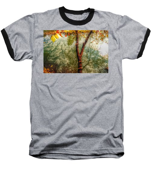 Baseball T-Shirt featuring the photograph Autumn Reflection  by Peggy Franz