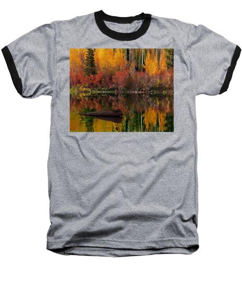 Autumn Reflections Baseball T-Shirt by Leland D Howard