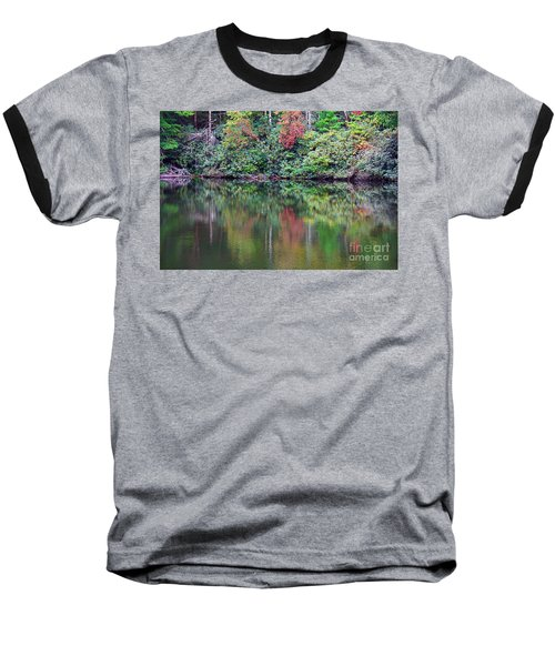 Autumn Reflections Baseball T-Shirt by Melissa Petrey