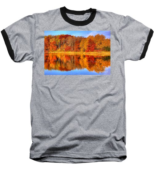 Autumn Reflections Minnesota Autumn Baseball T-Shirt
