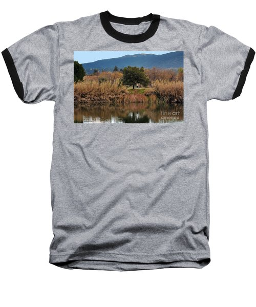 Baseball T-Shirt featuring the photograph Autumn Rider by Susan Wiedmann