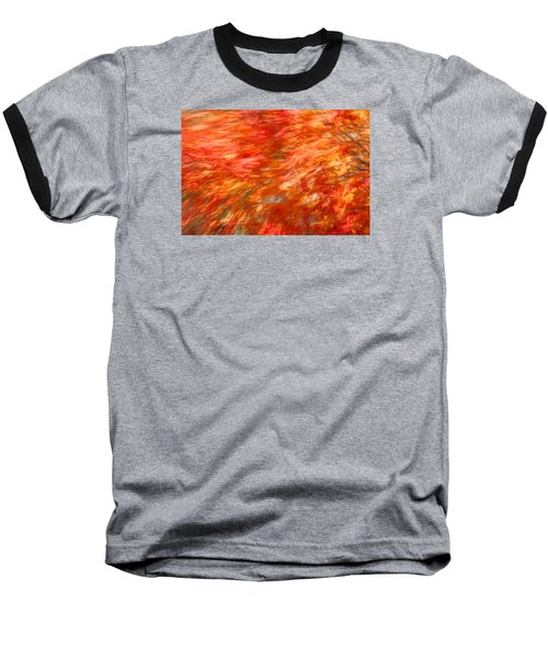 Baseball T-Shirt featuring the photograph Autumn River Of Flame by Jeff Folger