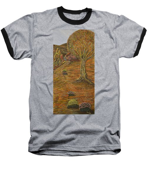 Autumn Sequence Baseball T-Shirt by Felicia Tica