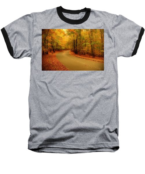 Autumn Serenity - Holmdel Park  Baseball T-Shirt