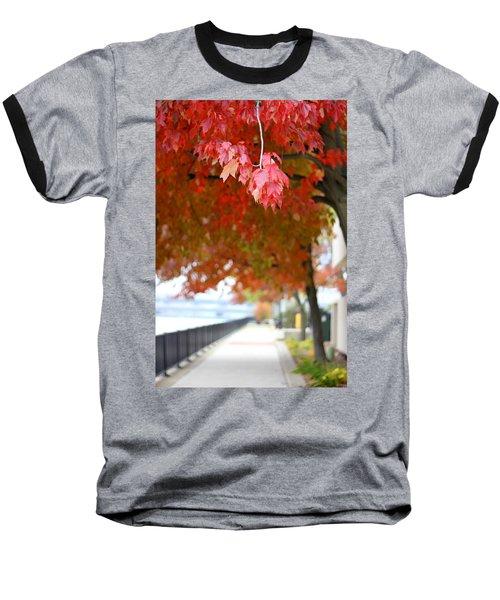 Autumn Sidewalk Baseball T-Shirt