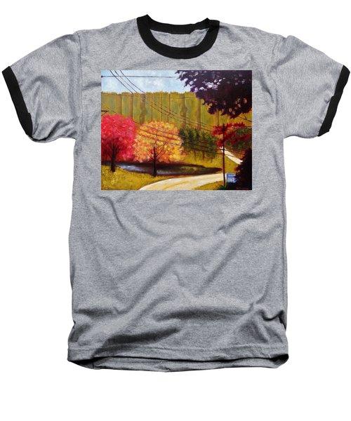 Autumn Slopes Baseball T-Shirt by Jason Williamson