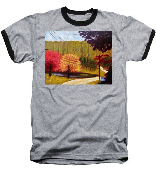 Autumn Slopes Baseball T-Shirt