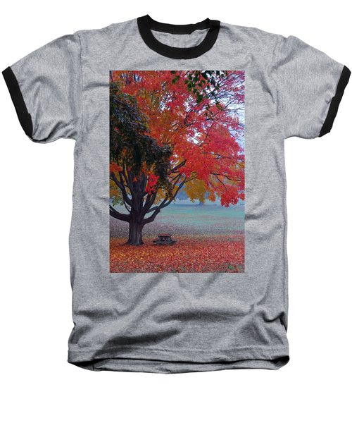 Autumn Splendor Baseball T-Shirt by Lisa Phillips