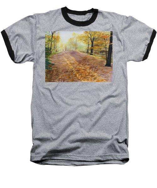 Autumn Sunday Morning Baseball T-Shirt