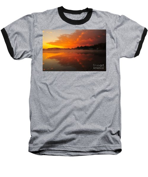 Autumn Sunrise At Stoneledge Lake Baseball T-Shirt by Terri Gostola