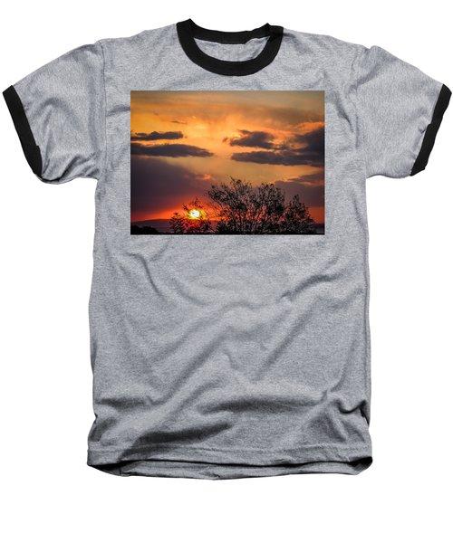 Autumn Sunrise Baseball T-Shirt