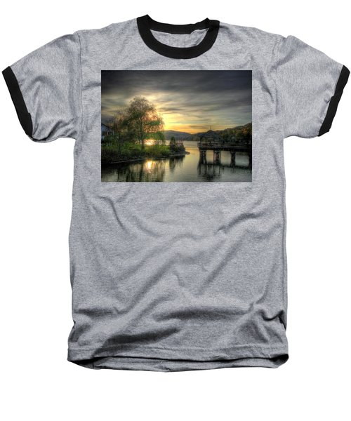 Autumn Sunset Baseball T-Shirt by Nicola Nobile
