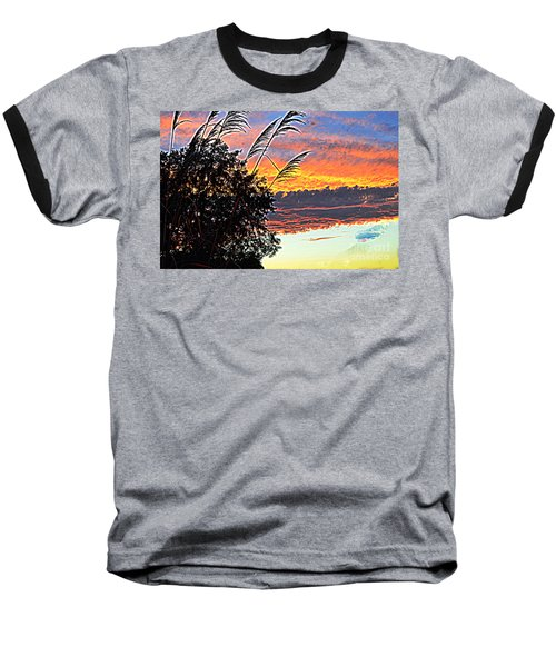 Autumn Sunset Baseball T-Shirt