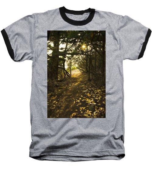 Autumn Trail In Woods Baseball T-Shirt