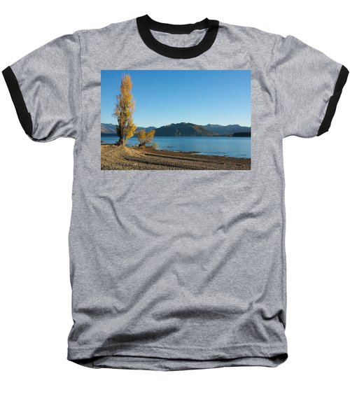 Autumn Trees At Lake Wanaka Baseball T-Shirt by Stuart Litoff