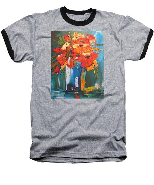 Autumn Vase Baseball T-Shirt by Terri Einer