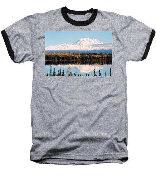 Autumn View Of Mt. Drum - Alaska Baseball T-Shirt