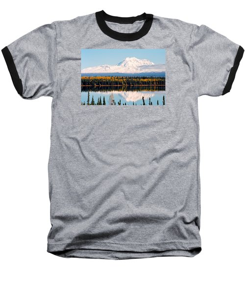 Autumn View Of Mt. Drum - Alaska Baseball T-Shirt