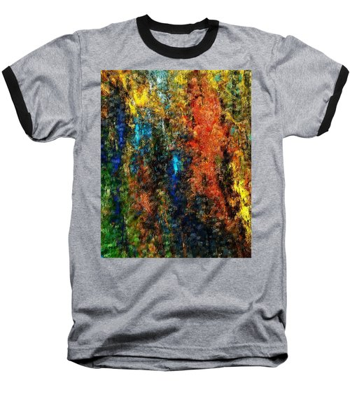 Baseball T-Shirt featuring the digital art Autumn Visions Remembered by David Lane