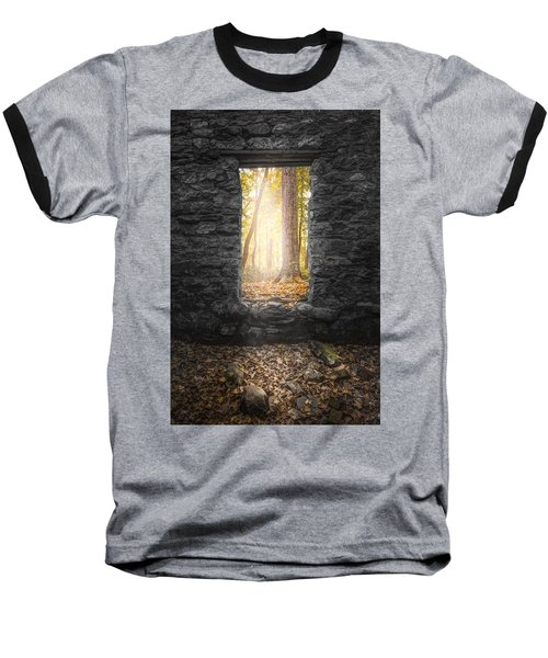 Autumn Within Long Pond Ironworks - Historical Ruins Baseball T-Shirt