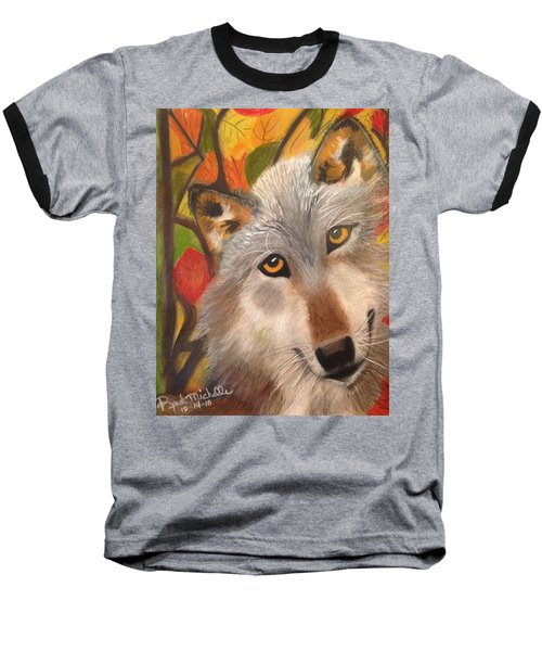 Autumn Wolf Baseball T-Shirt
