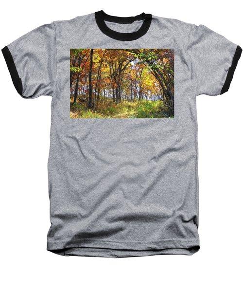 Autumn Woods Baseball T-Shirt