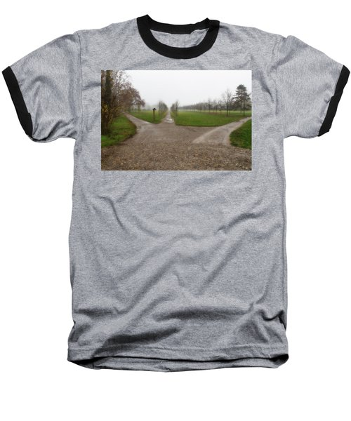 Autumnal Countryscape Baseball T-Shirt