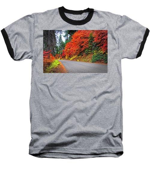Autumn's Glory Baseball T-Shirt by Lynn Bauer