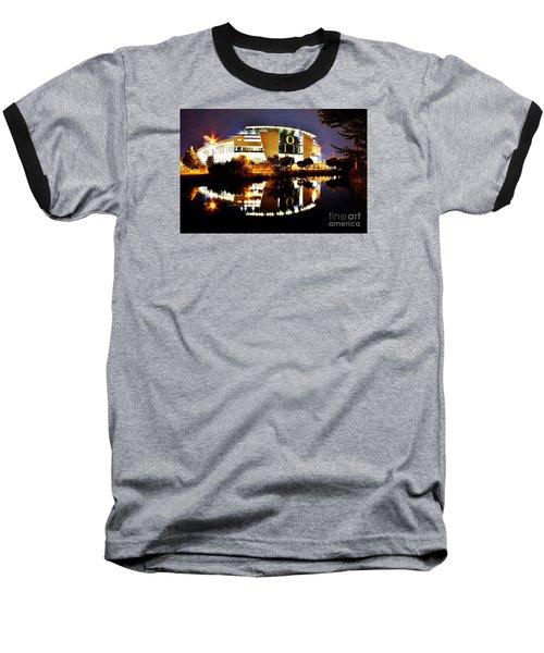 Autzen At Night Baseball T-Shirt by Michael Cross