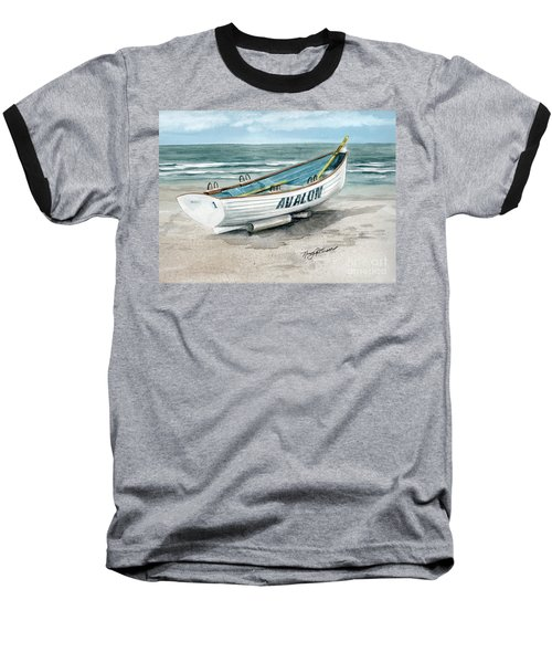 Avalon Lifeguard Boat  Baseball T-Shirt