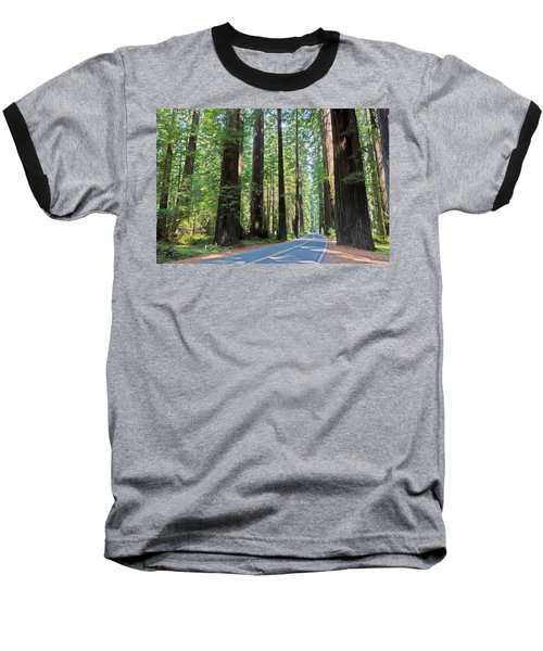 Avenue Of The Giants Baseball T-Shirt