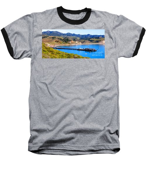 Avila Beach California Fishing Pier Baseball T-Shirt