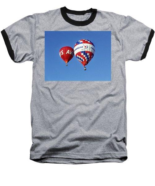 Avis Balloon Baseball T-Shirt by John Swartz