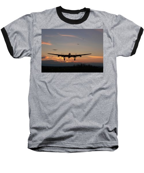 Avro Lancaster - Dawn Return Baseball T-Shirt