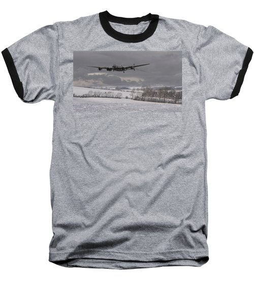 Avro Lancaster - Limping Home Baseball T-Shirt by Pat Speirs