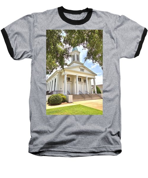 Baseball T-Shirt featuring the photograph Awaiting The Congregation by Gordon Elwell