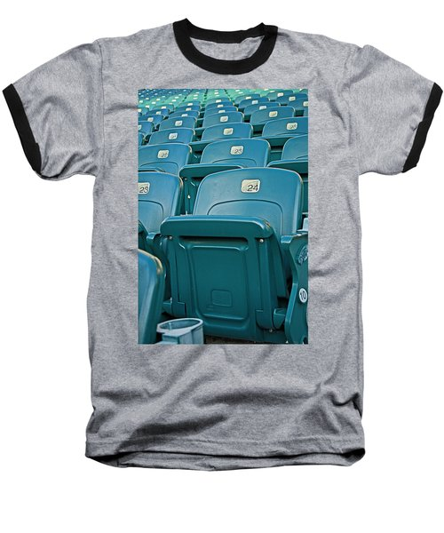Awaiting The Crowds Baseball T-Shirt by Michael Porchik