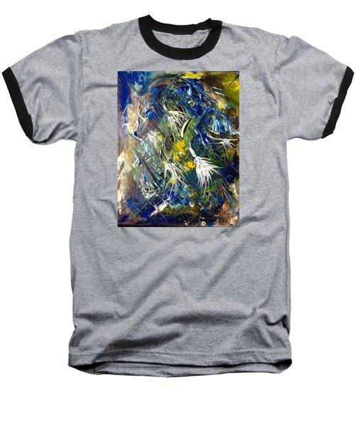Baseball T-Shirt featuring the painting Awakening The Bear by Kicking Bear  Productions