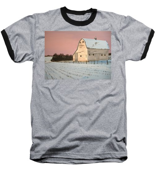 Baseball T-Shirt featuring the painting Award-winning Original Acrylic Painting - Nebraska Barn by Norm Starks