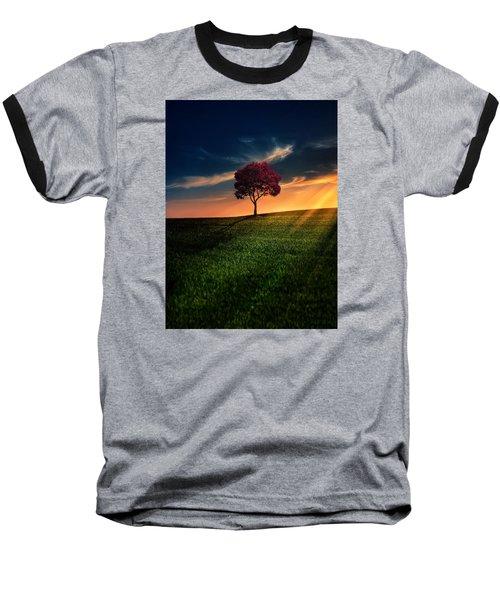 Awesome Solitude Baseball T-Shirt by Bess Hamiti