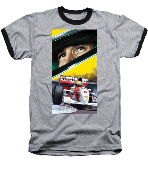 Ayrton Senna Artwork Baseball T-Shirt