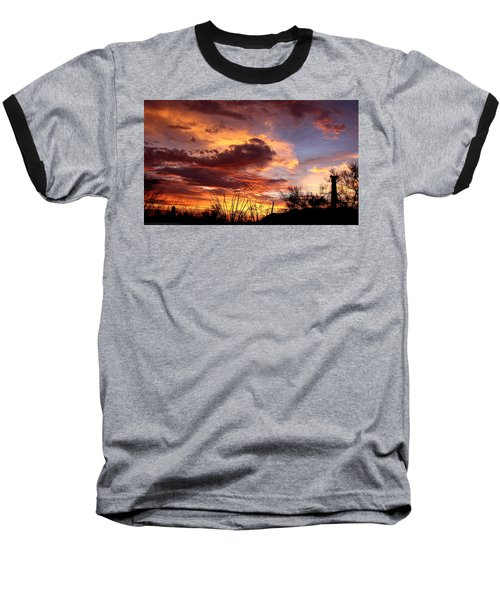 Az Monsoon Sunset Baseball T-Shirt