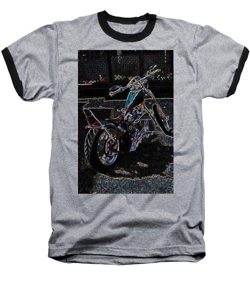 Baseball T-Shirt featuring the digital art Aztec Neon Art by Lesa Fine