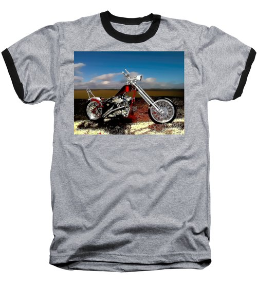 Aztec Rest Stop Baseball T-Shirt by Lesa Fine