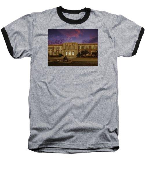 B C H S At Dusk Baseball T-Shirt by Charles Hite