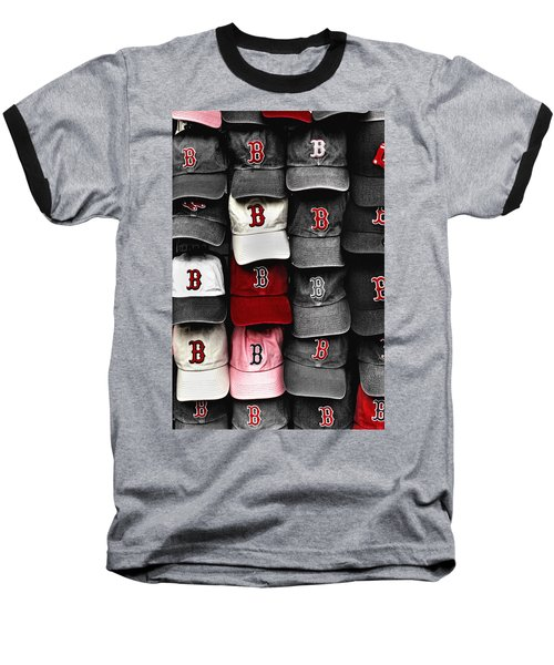 B For Bosox Baseball T-Shirt by Joann Vitali