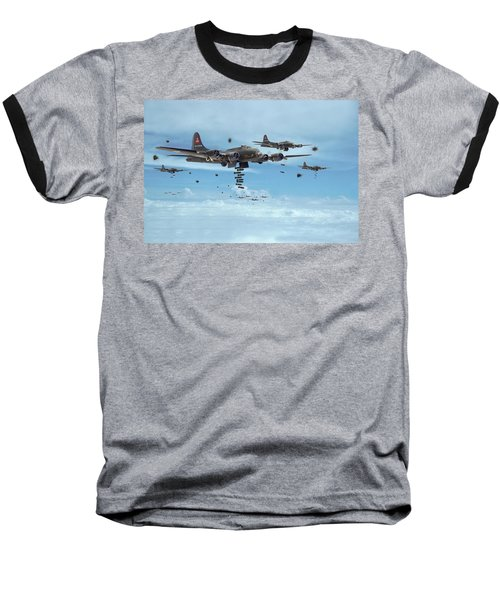 B17 - Mighty 8th Arrives Baseball T-Shirt