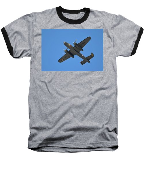B25 Mitchell Wwii Bomber On 70th Anniversary Of Doolittle Raid Over Florida 21 April 2013 Baseball T-Shirt by Jeff at JSJ Photography