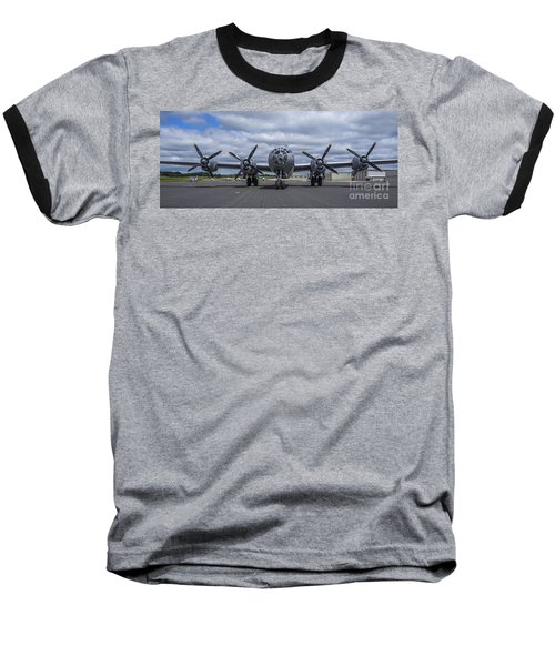 B29  Superfortress Baseball T-Shirt by Steven Ralser